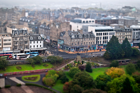 Misty day in Princes St 1
