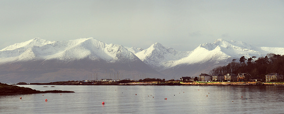 Snow capped mountains of Arran