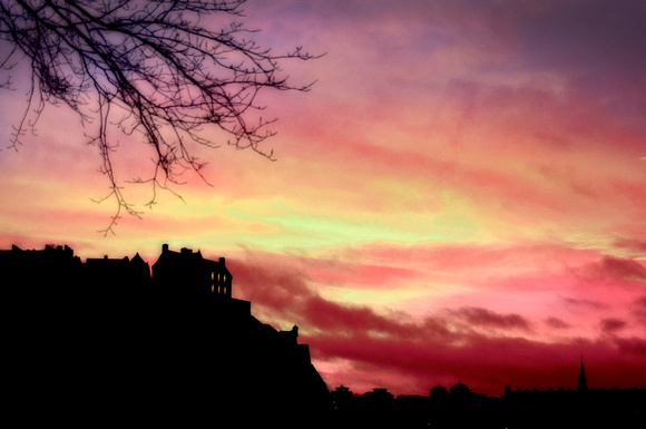 Dusk over Edinburgh Castle 1