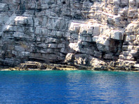 Layered rock on the Island of Symi