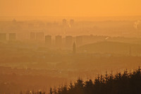 Hazy sunrise over Glasgow