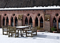Cloisters in snow