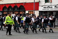 Sma' shots precession with the Kilbarchan Pipe band