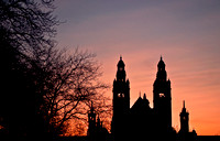 Dusk over Kelvingrove Art Galleries