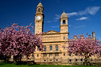 Paisley town hall in spring