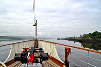 sailing down  the clyde