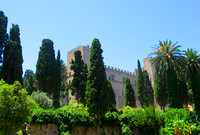 Gardens of the Palace of the Grand Master in the city of Rho