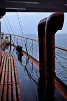 Wet start onboard the Waverley