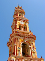 Clock Tower over Monastry in Panormitis
