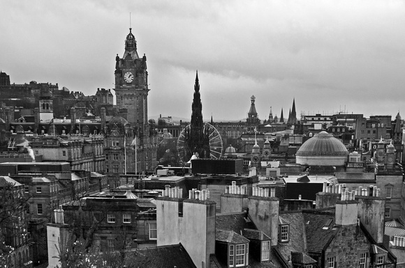 Edinburgh skyline view