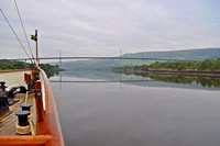 Sailing towards the Erskine Bridge